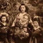 歴史的な古写真:明治・大正期の花魁と禿と遊郭