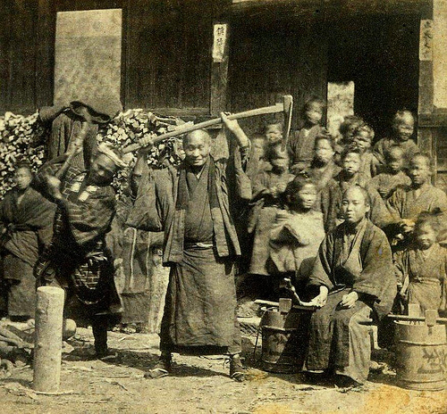 BAKUMATSU BALLYHOO -- Hamming It Up for the Camera Man On the Streets of Old Japan