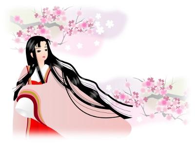 桜とお姫様