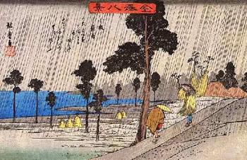 歌川広重-小泉夜雨-金沢八景