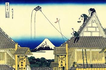 葛飾北斎-富嶽三十六景-江都駿河町三井見世略図