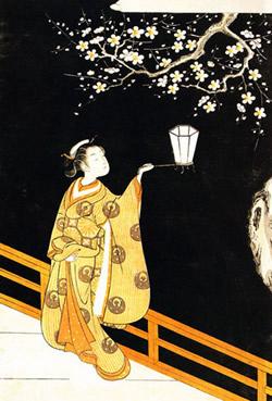 鈴木春信-夜の梅